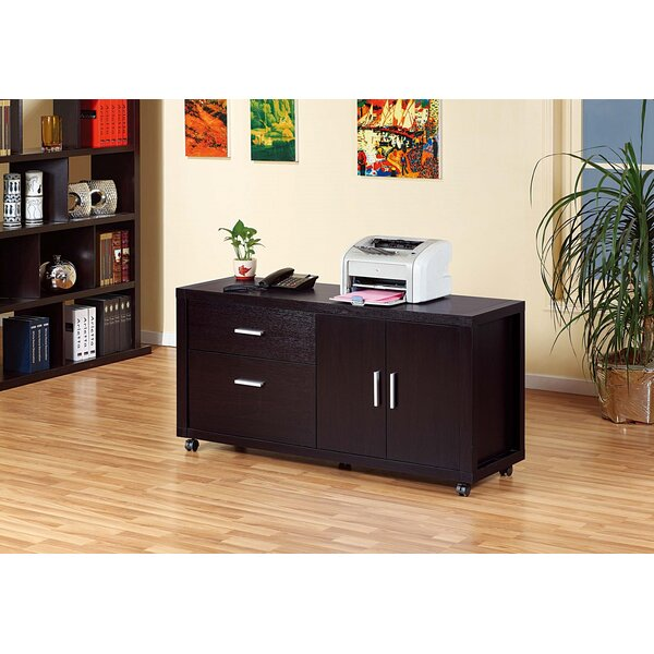 Brada 2-Drawer Mobile Lateral Filing Cabinet