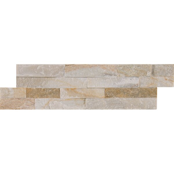 Golden Honey Natural Stone Mosaic Tile in White by MSI