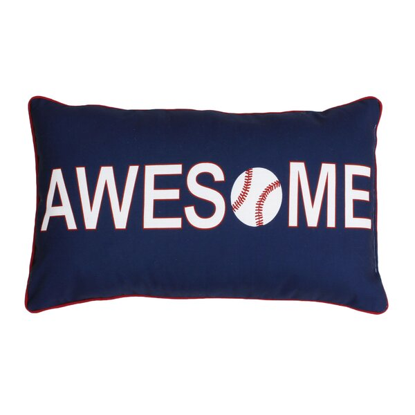 Catlin Awesome Baseball Reversible Lumbar Pillow by Harriet Bee