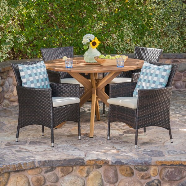 Stennis 5 Piece Dining Set by Wrought Studio