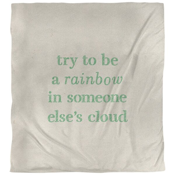 Quotes Handwritten Try To Be A Rainbow Single Reversible Duvet Cover