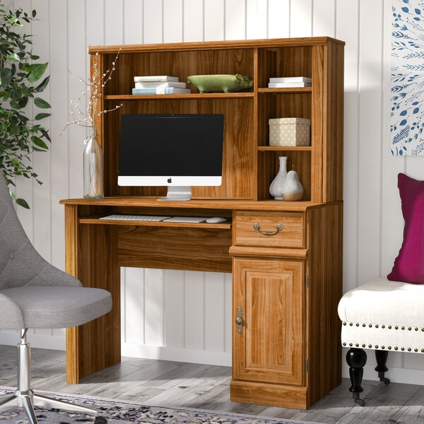 Oxford Computer Desk with Hutch by Charlton Home