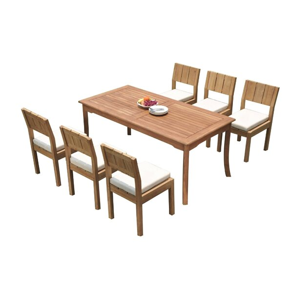 Urgeon 7 Piece Teak Dining Set by Rosecliff Heights