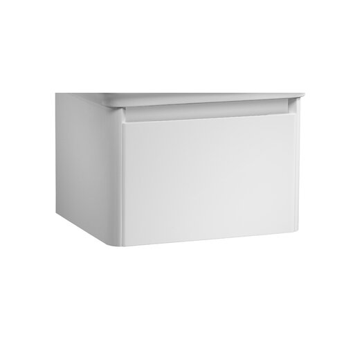 Buch 56cm Wall Mounted Vanity Unit Base Belfry Bathroom Base Finish: White