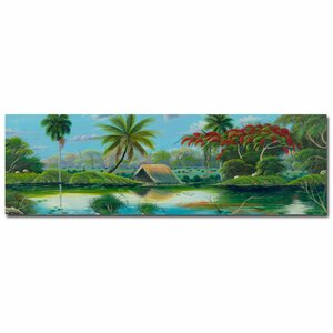 'Paisage Tropical' by Douglas Painting Print on Canvas by Trademark Fine Art