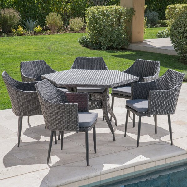 7 Piece Dining Set with Cushions by Red Barrel Studio