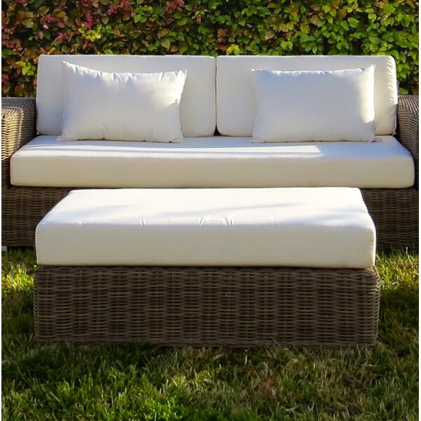 Agee Ottoman with Cushion by Longshore Tides