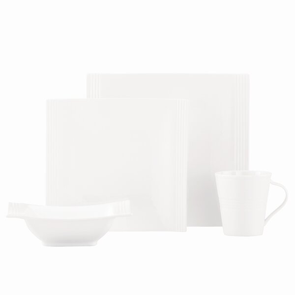 Tin Can Alley Square Bone China 4 Piece Place Setting, Service for 1 by Lenox