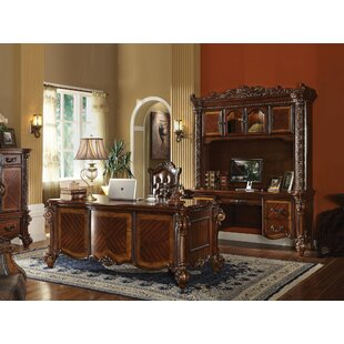 Malley Executive Desk Set With Hutch by Astoria Grand Modern