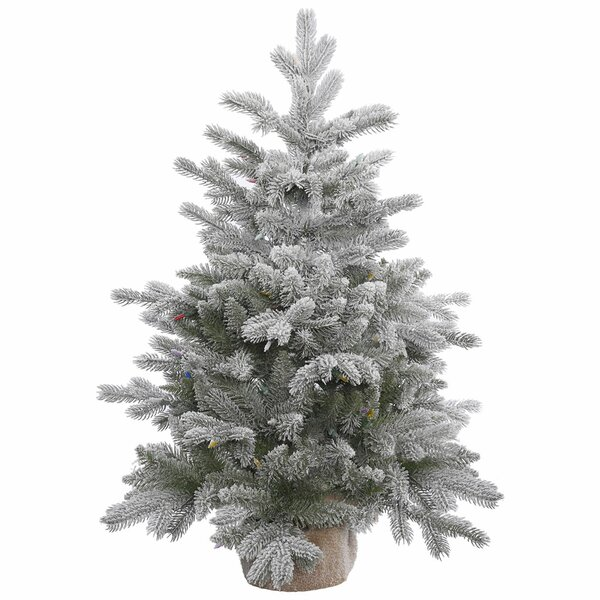 36 Frosted Pine Artificial Christmas Tree with Stand by The Holiday Aisle