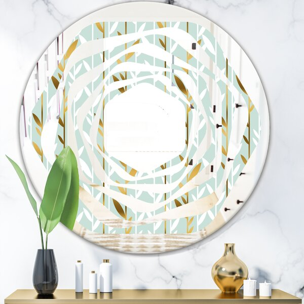 Whirl Foliage I Cottage Americana Frameless Wall Mirror