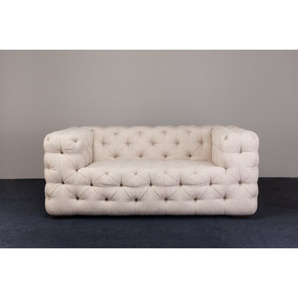 Chill Low Chesterfield Loveseat by Ebb and Flow Furniture
