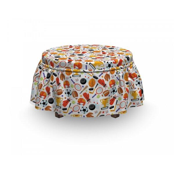 Sport Cartoon Bowling 2 Piece Box Cushion Ottoman Slipcover Set By East Urban Home
