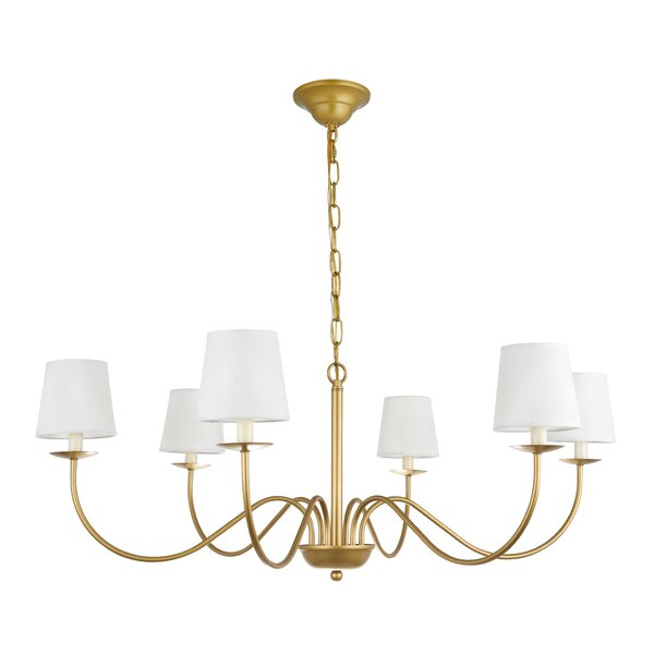 Goin 6 - Light Shaded Classic / Traditional Chandelier by Charlton Home Charlton Home