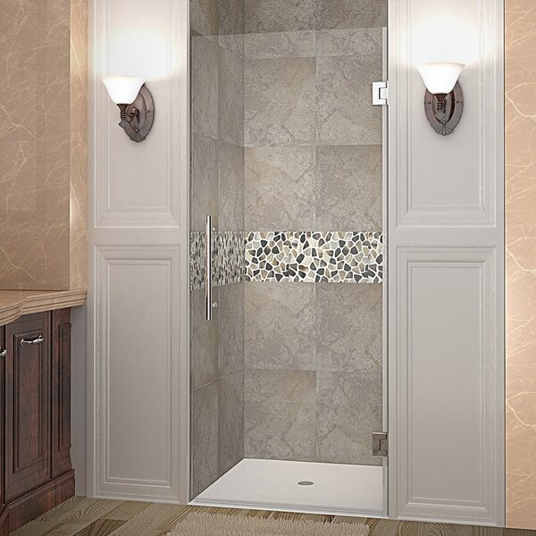 Cascadia 72 x 22 Completely Frameless Single Panel Hinged Shower Door by Aston