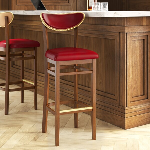 Beechwood Moon Shape Back Upholstered Seat Bar & Counter Stool by Regal Regal