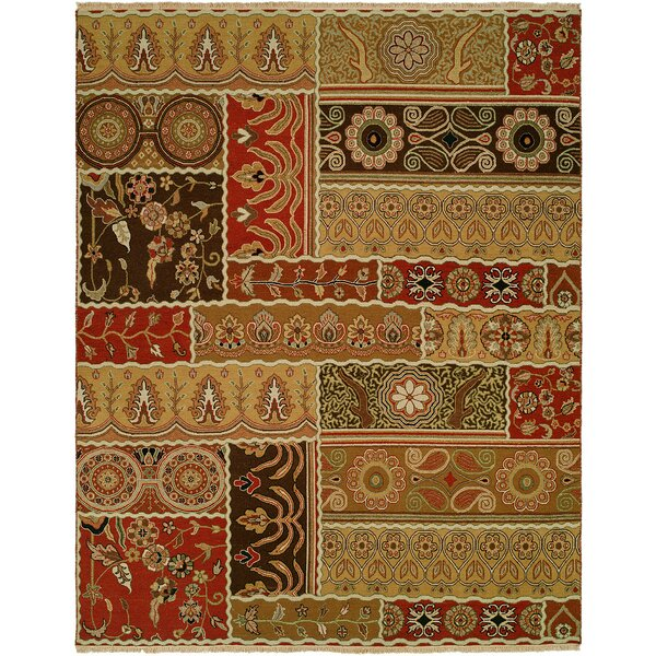 Sudan Hand-Woven Brown/Red Area Rug by Wildon Home ®