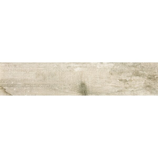Ranch 8 x 35 Porcelain Wood Look Tile in Land by Emser Tile