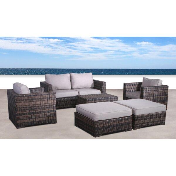 Pierson Resort 6 Piece Conversation Set with Cushions by Brayden Studio