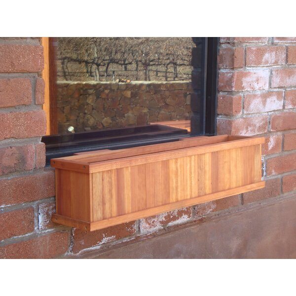 Wood Window Box Planter by Best Redwood