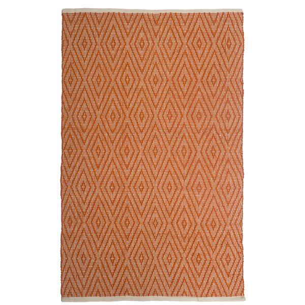 Estate Indoor/Outdoor Hand-Woven Orange Area Rug by Fab Habitat