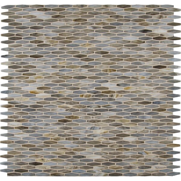 Mochachino Hexagon Glass Mosaic Tile in Taupe by MSI