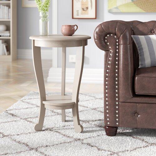 Beistelltisch Bain Three Posts Farbe: Retro-Grau | Wohnzimmer > Tische > Beistelltische | Three Posts