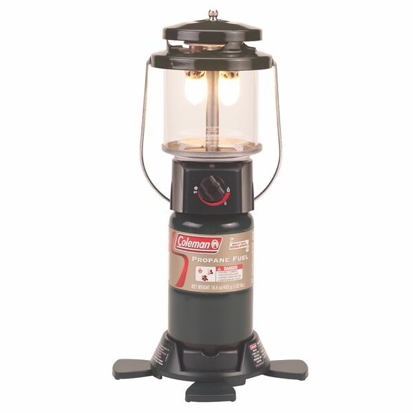 Deluxe PerfectFlow 2-Mantle Propane 1-Light Pier Mount Light by Coleman