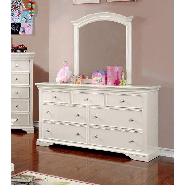 Wetzel 7 Drawer Dresser with Mirror by Harriet Bee