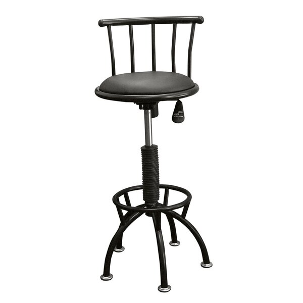 Moline Adjustable Height Swivel Bar Stool by Brayden Studio