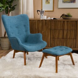 Langley Street Canyon Vista Mid Century Wingback Chair Set