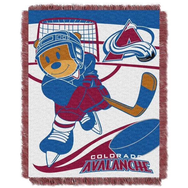 NHL Avalanche Baby Woven Throw Blanket by Northwest Co.