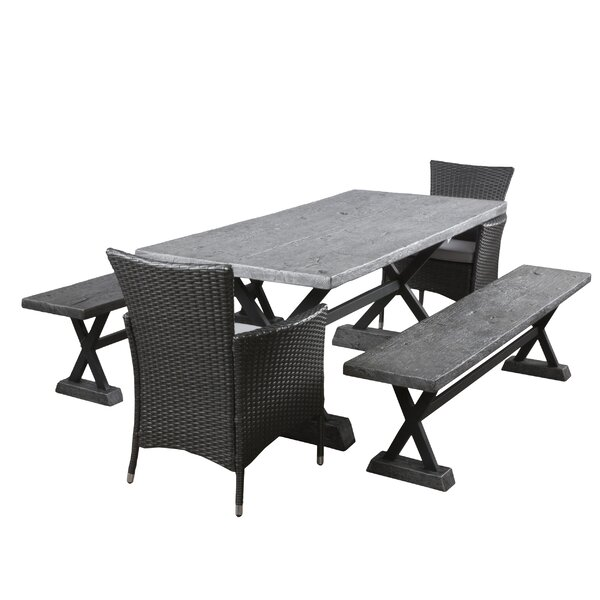 Austin 5 Piece Dining Set with Cushions by 17 Stories