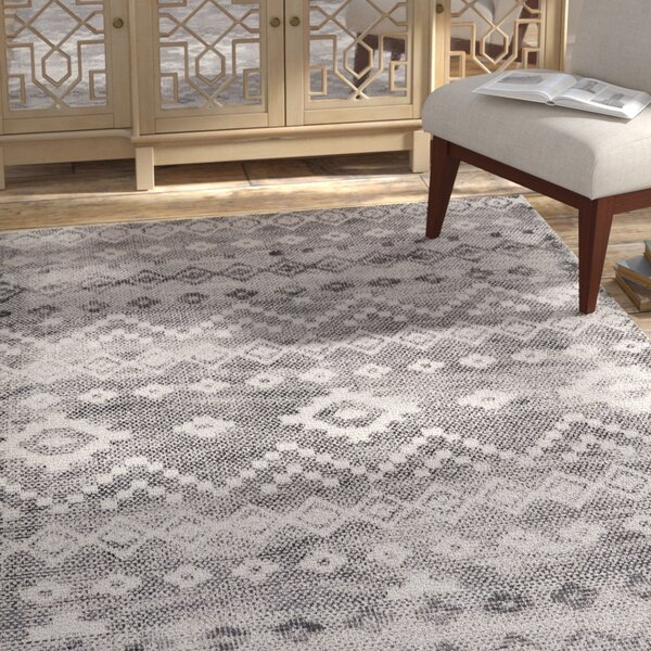 Grayson Hand-Tufted Charcoal/Ivory Area Rug by Bungalow Rose