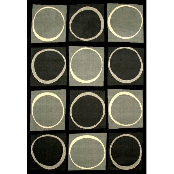 Rowe Black/Gray Area Rug by Latitude Run