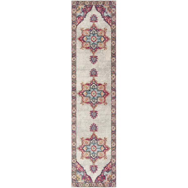 Doucet Cream/Pink Area Rug by Bungalow Rose