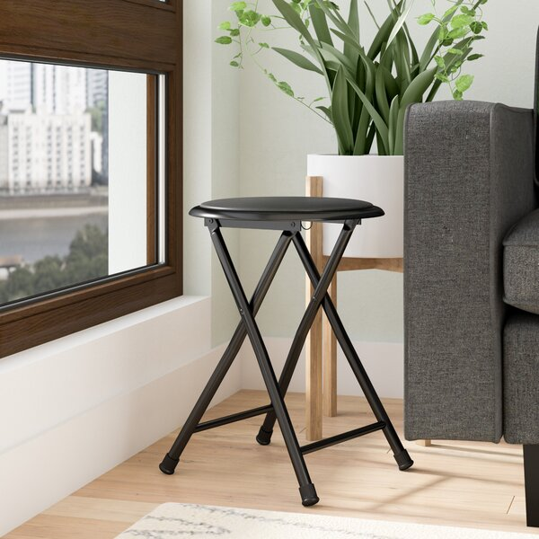Adan Cushioned Folding Stool by Zipcode Design
