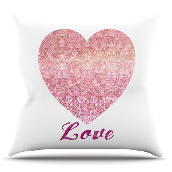 Love by Pom Graphic Design Outdoor Throw Pillow by East Urban Home