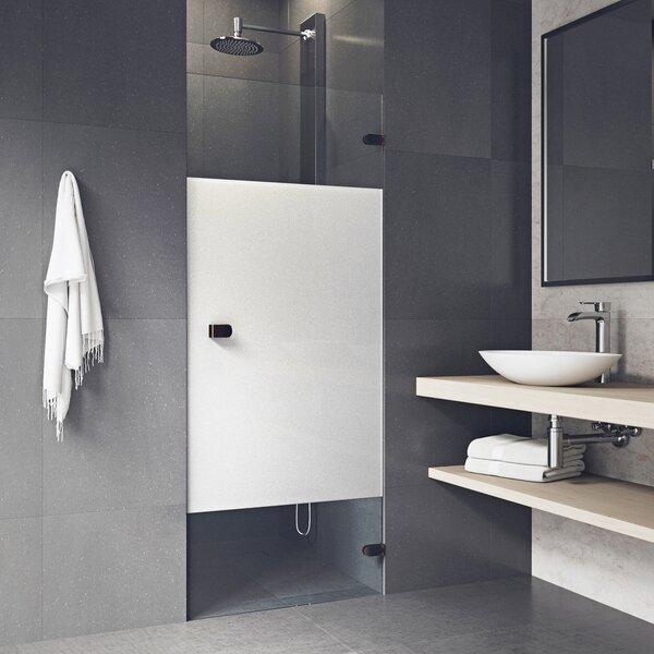 SoHo Tempo 26.25 x 70.63 Hinged Frameless Shower Door by VIGO