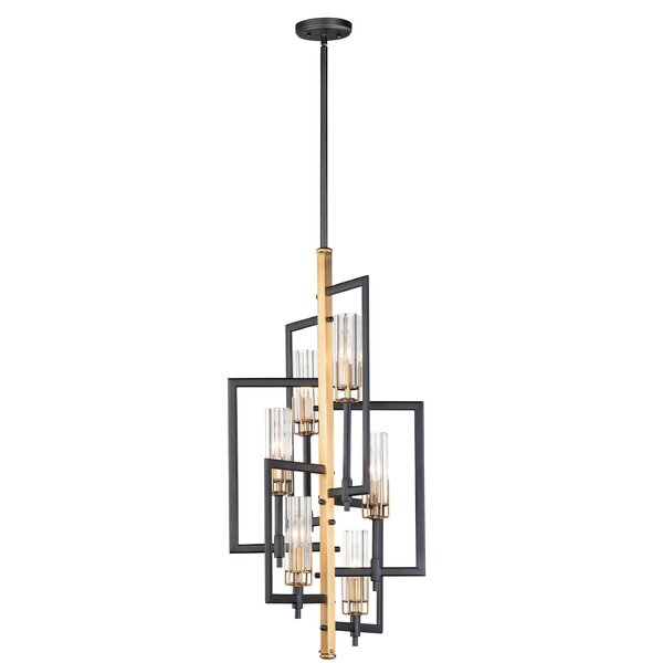 Kingsview 6 - Light Unique / Statement Geometric Chandelier By Wrought Studio