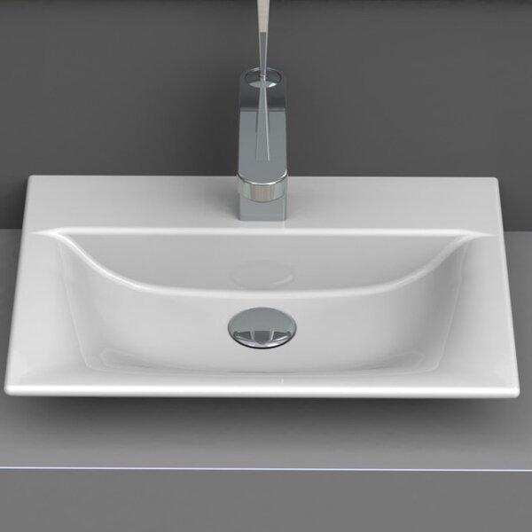 Ceramic Rectangular Vessel Bathroom Sink by CeraStyle by Nameeks