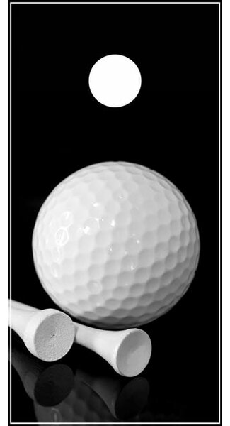 Golf Ball and Tee Cornhole Board by Lightning Cornhole