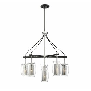 Price comparison Depp 6-Light Shaded Chandelier By Mercury Row