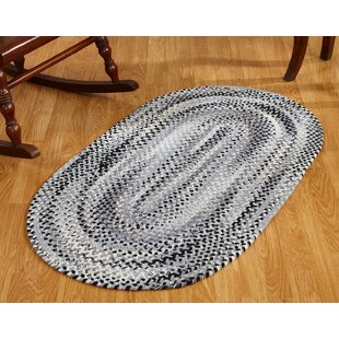 Best Reviews Emerson Chenille Cotton Black/Gray Area Rug ByAugust Grove