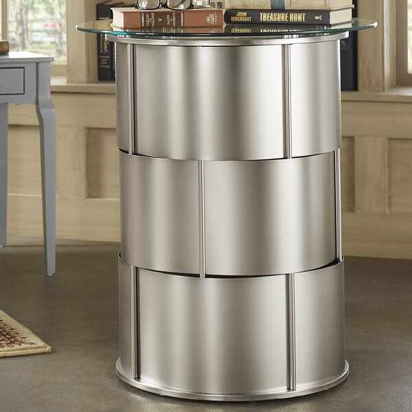 Cliburn Drum Table by House of Hampton
