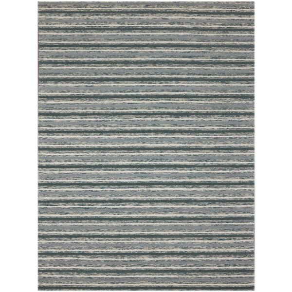 Brookes Hand-Tufted Steel Blue Area Rug by Highland Dunes
