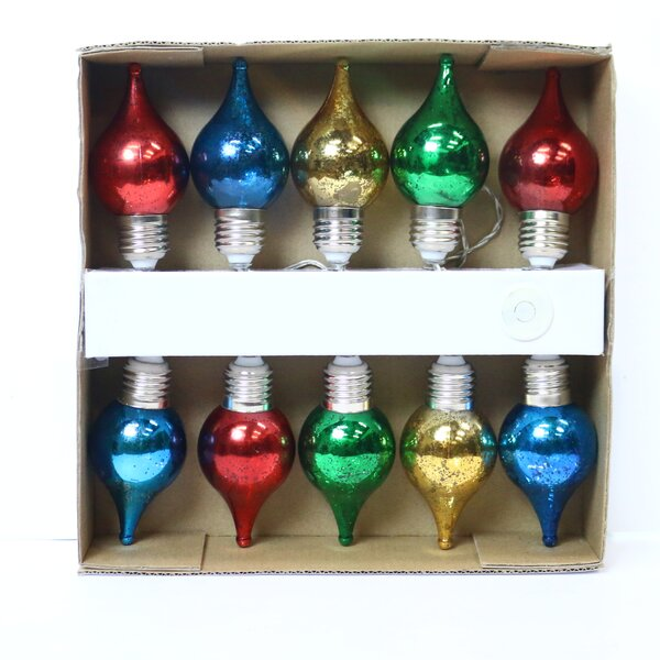 10-Light Globe String Lights by Alpine