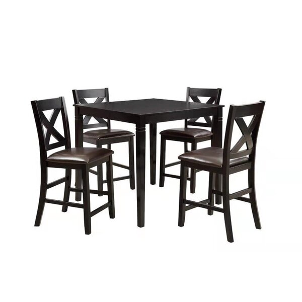 Farhat 5 Piece Counter Height Dining Set by Winston Porter Winston Porter