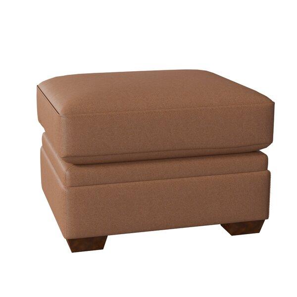 Carleton Leather Ottoman By Wayfair Custom Upholstery™