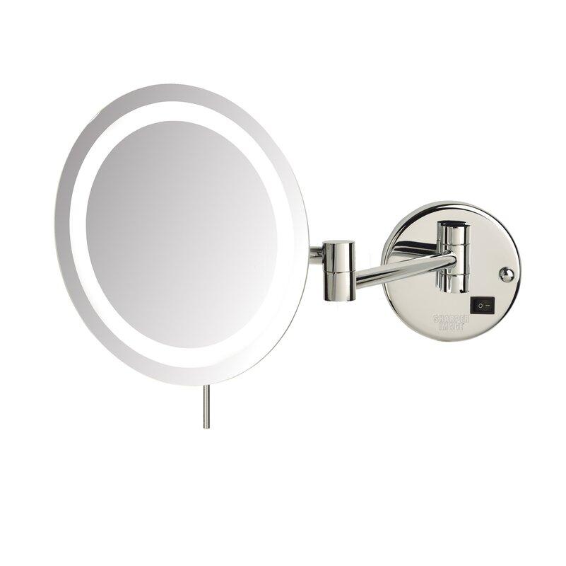 Jerdon LED 8x Magnifying Wall Mount Makeup Mirror & Reviews | Wayfair